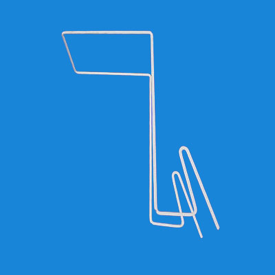 Крючок торговый для шляп квадратный под сетку